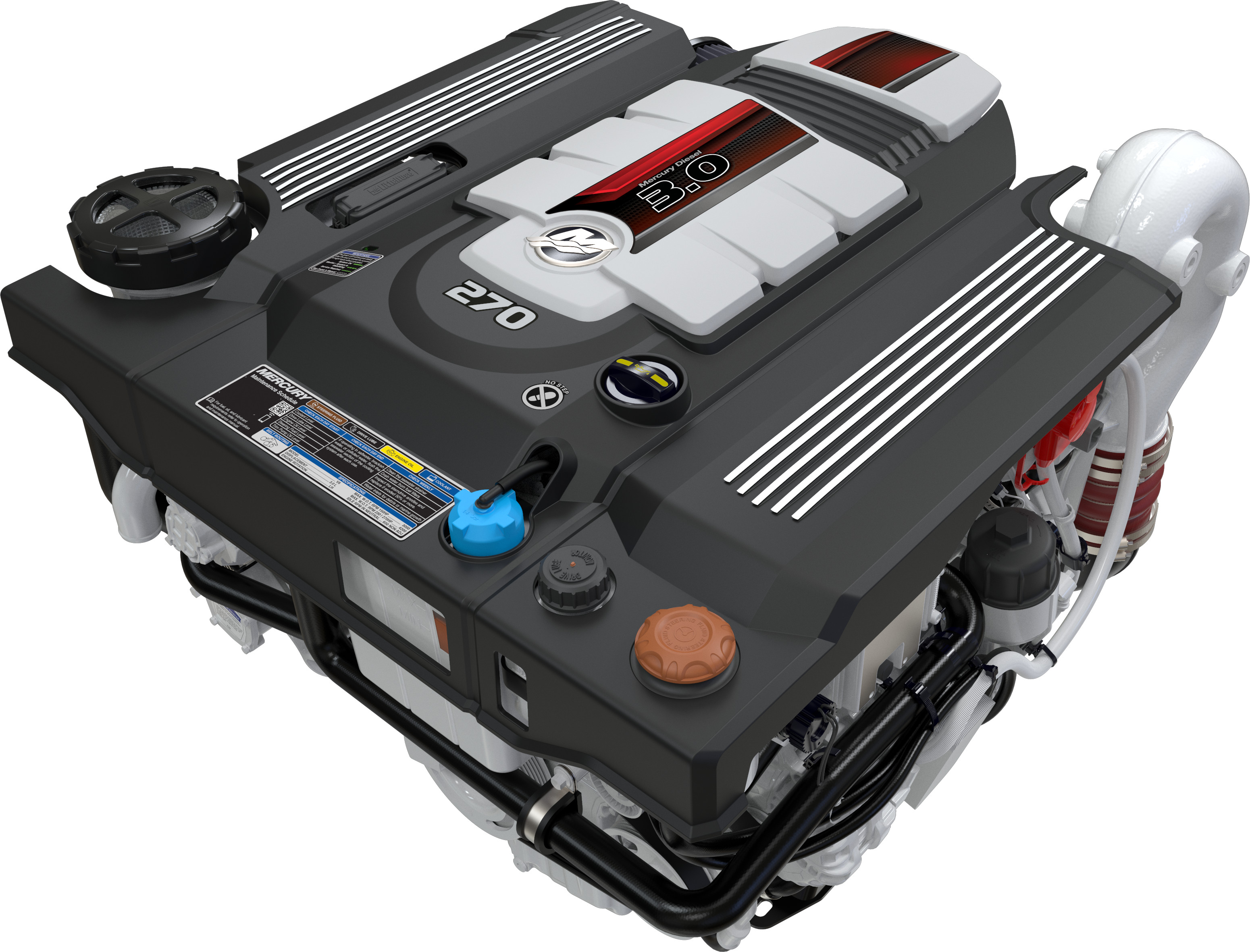 Mercury Diesel 3.0L 150-270hp engines introduced at SIBS